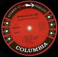 CHARLES MINGUS Mingus Ah Um Vinyl Record LP Columbia 2016